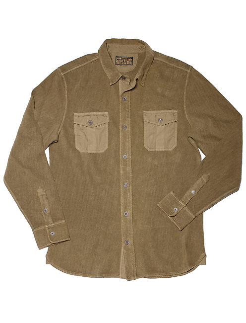 OVERDYED ONE PKT SHIRT, SPRING OLIVE