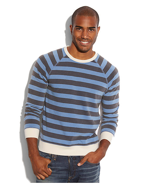 STRIPE CREW, BLUE MULTI