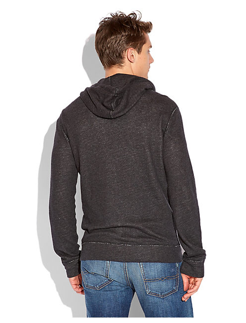 DOUBLE KNIT HOODIE, CHARCOAL HEATHER