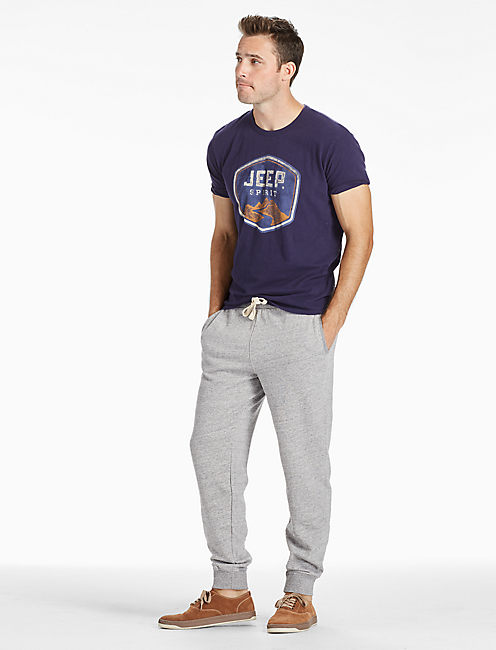 410 ATHLETIC SWEATPANT, HEATHER GREY
