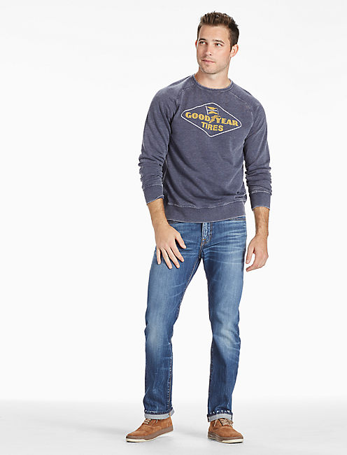 BURNOUT GOODYEAR CREW SWEATSHIRT,