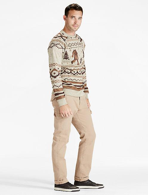Lucky Shearless Fleece Monster Crew Sweater