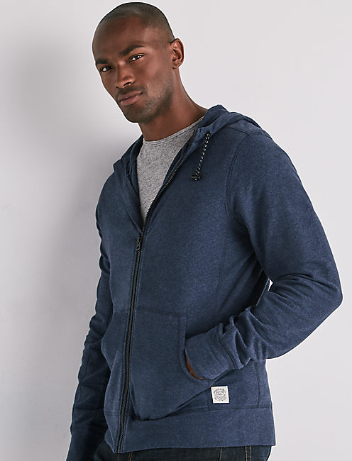 STRETCH FULL ZIP HOOD,