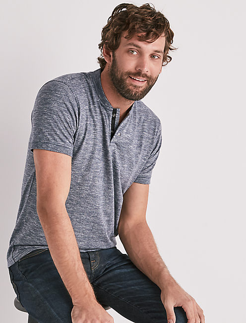 STRETCH GRINDLE HENLEY,