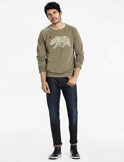 Lucky California Bear Burnout Sweatshirt