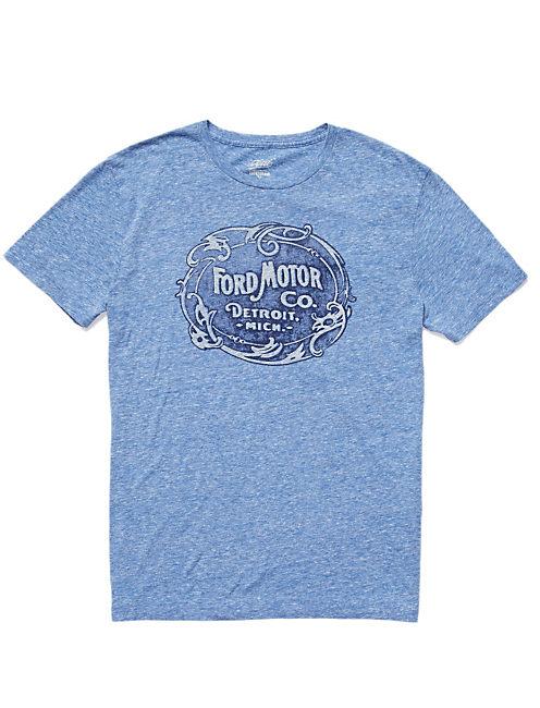 HERITAGE FORD MOTO CO.TEE, TRUE BLUE PANTONE# 19-4057TCX