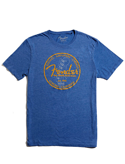 FENDER CIRCLE TEE, DUSTY BLUE HEATHER -TUSCA 8733