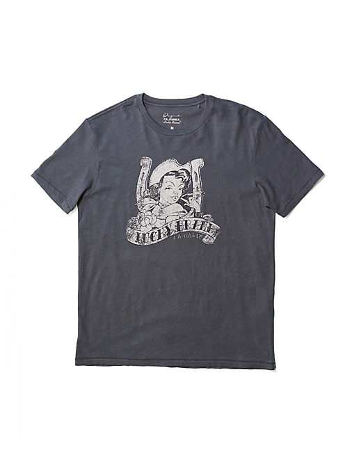 COWGIRL TEE, MAGNET (19-3901 TCX)