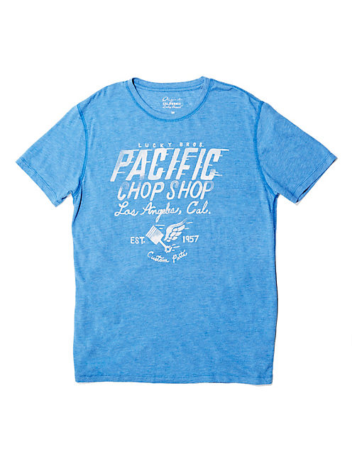 PACIFIC CHOP SHOP TEE, DUSTY BLUE HEATHER -TUSCA 8733