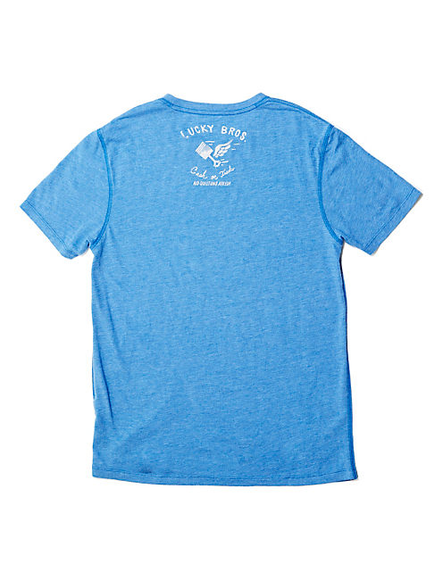 PACIFIC CHOP SHOP TEE, DUSTY BLUE HEATHER -TUSCA 8733