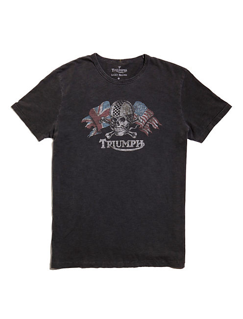TRIUMPH SKULL  TEE, BLACK MOUNTAIN
