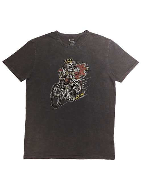 KING SKULL MOTO TEE, BLACK MOUNTAIN