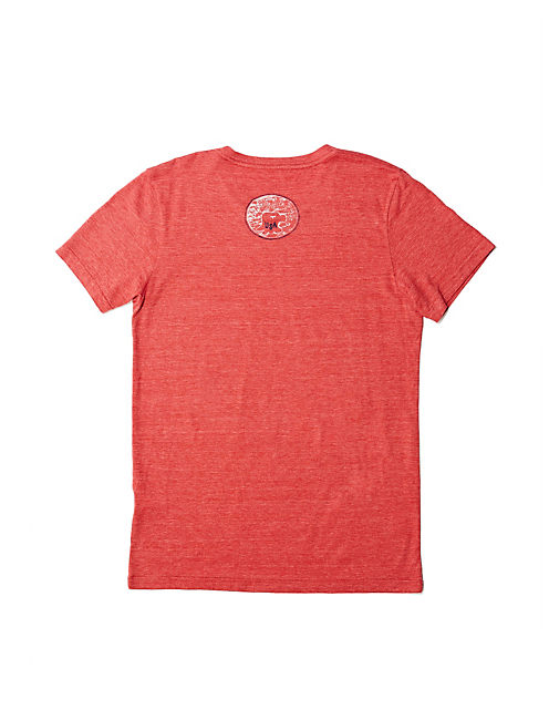 USA EAGLE TEE, POMPEIAN RED
