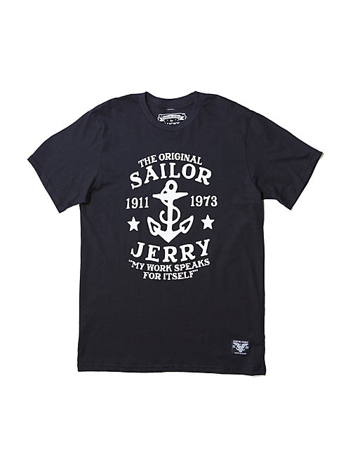 ANCHOR TEE, #001 BLACK