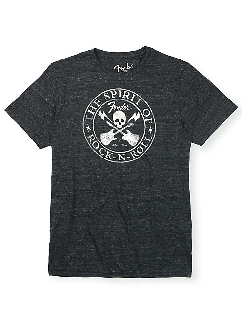 FENDER SKULL, BLACK HEATHER