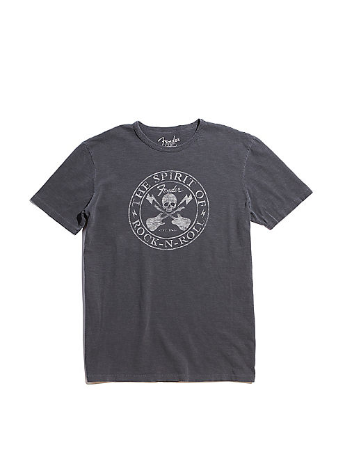 FENDER SKULL TEE, BLACK MOUNTAIN