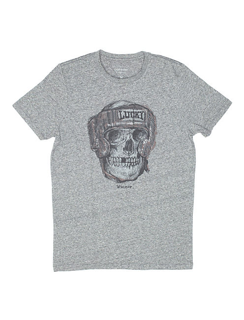 BOXING SKULL, HEATHER GREY