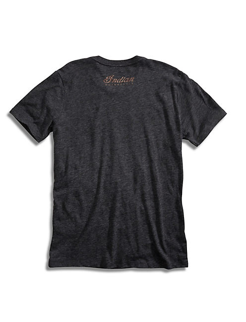 INDIAN MOTO TEE, BLACK HEATHER