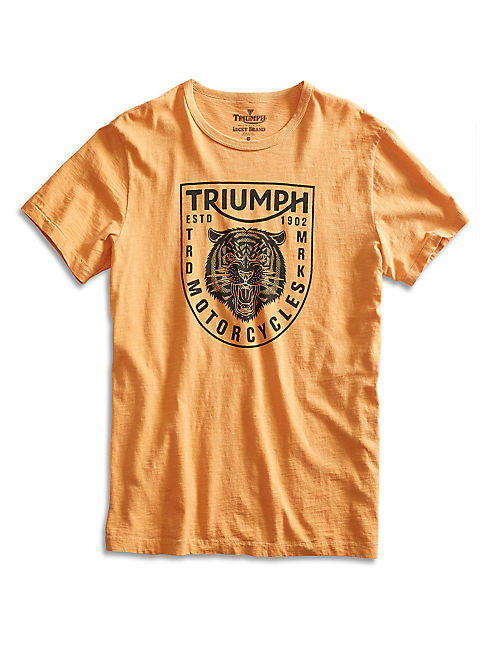 TRIUMPH TIGER HEAD TEE, HONEY GOLD