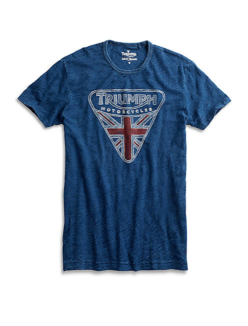 INDIGO TRIUMPH BADGE TEE,