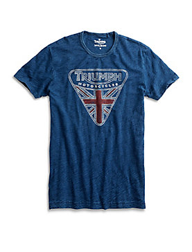 INDIGO TRIUMPH BADGE TEE