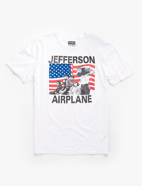 JEFFERSON AIRPLANE FLAG, BRIGHT WHITE