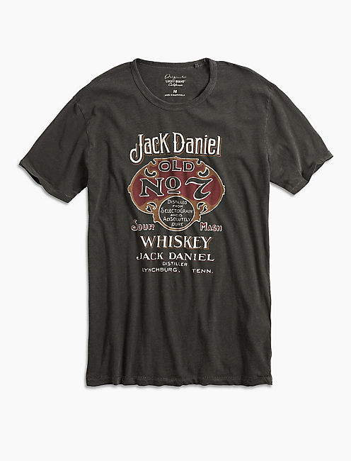 JACK DANIELS OLD No 7 TEE, BLACK MOUNTAIN