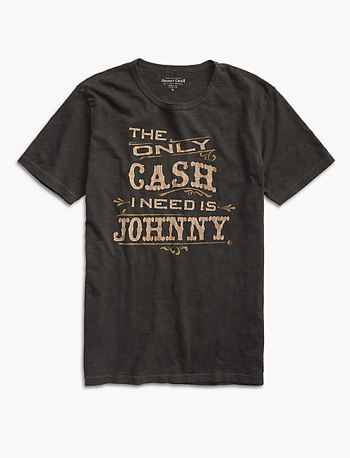 ONLY CASH TEE, BLACK MOUNTAIN