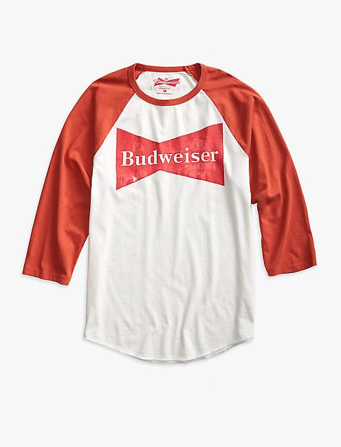 BUDWEISER BOWTIE BASEBALL TEE,