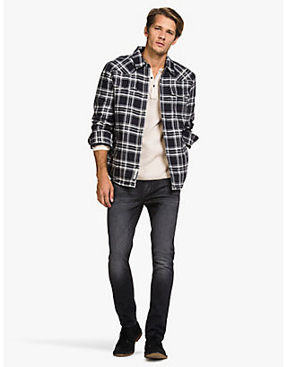 LUCKY PLAID SHERPA-LINED JACKET