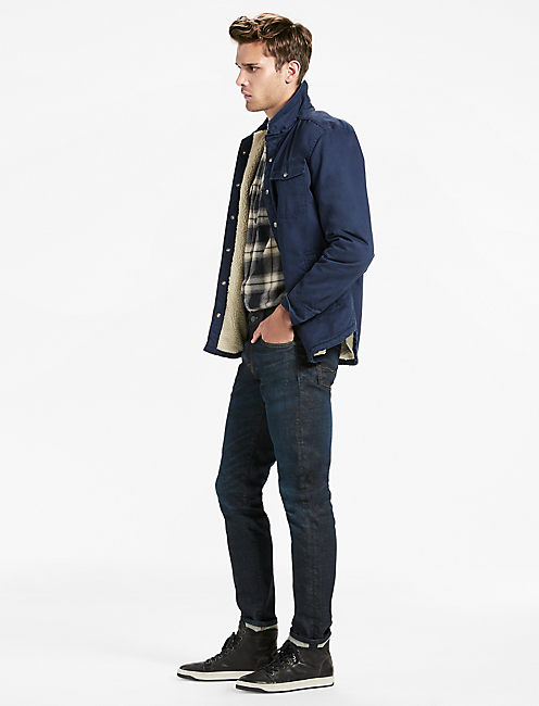 Lucky Sherpa Shirt Jacket-military Label