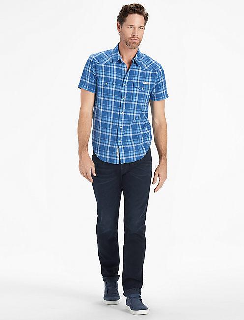 Short Sleeve San Gabriel Western SHIRT, BLUE MULTI
