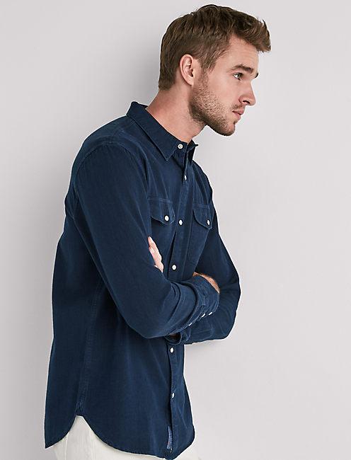 Indigo Dobby Western Shirt,