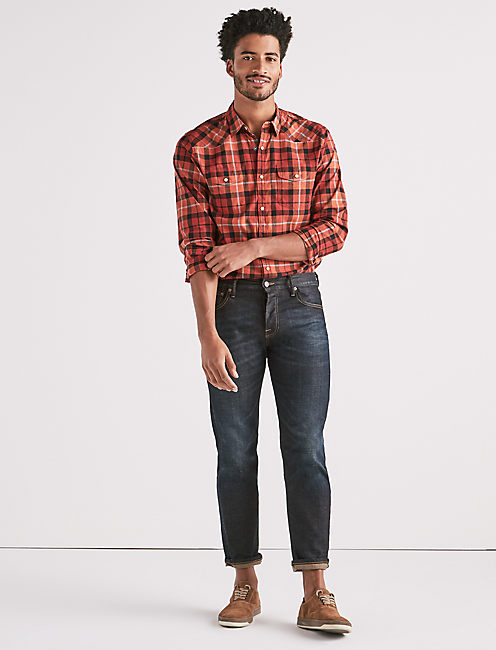 Lucky Saturday Stretch Poplin Western Shirt