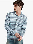 LONG SLEEVE 1 POCKET MULTI COLOR STRIPE,