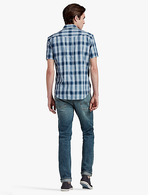 LUCKY BLUE MULTI PLAID WESTERN