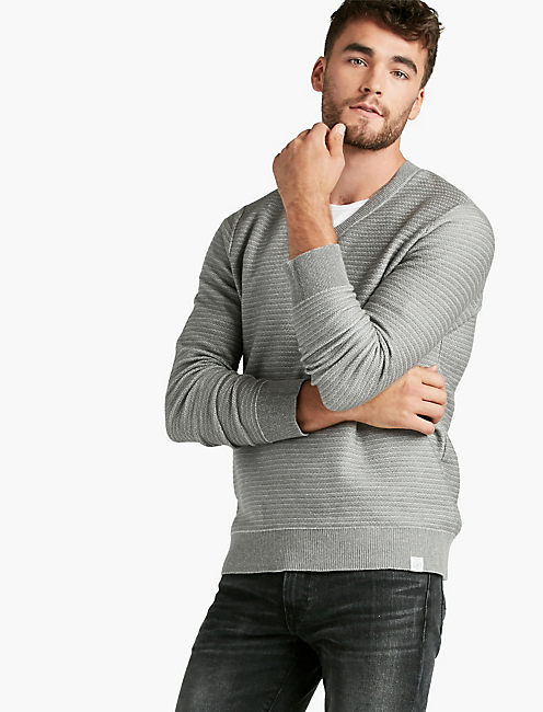 YNECK SWEATER, GREY