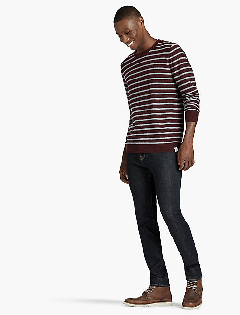 LONG SLEEVE STRIPE SWEATER,