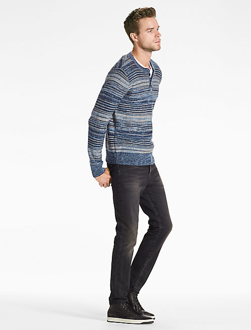 Lucky Marled Stripe Henley Sweater
