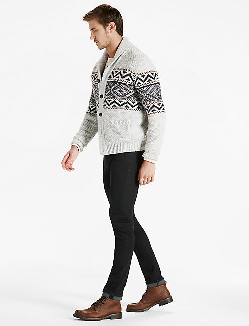 Lucky Sherpa Lined Shawl Collar Cardigan