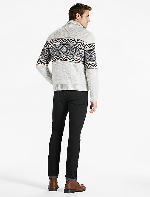 SHERPA LINED SHAWL COLLAR CARDIGAN,