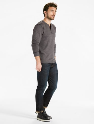 Lucky Ls Double Knit Henley