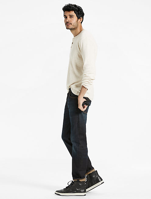 DOUBLE KNIT HENLEY TEE, OATMEAL HEATHER