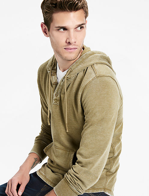 SHASTA BURNOUT HOODIE, MILITARY OLIVE #19-0622TCX