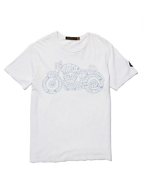 CYCELEDELIC TEE, OPTIC WHITE