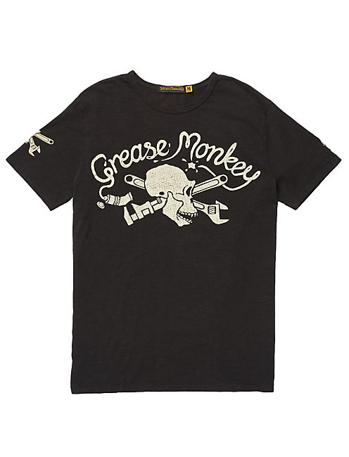 GREASE MONKEY TEE, #001 BLACK