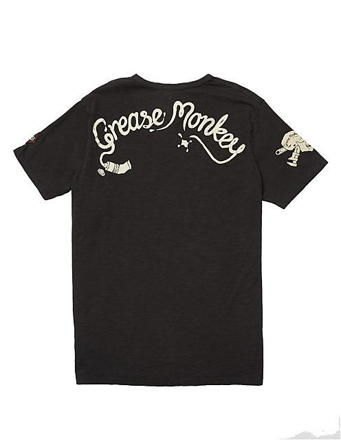 GREASE MONKEY TEE, #001 BLACK