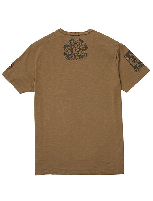 13 ACES TEE, ARMY GREEN