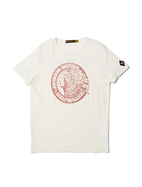 CHIEF MOTORCYCLE TEE, DIRTY WHITE