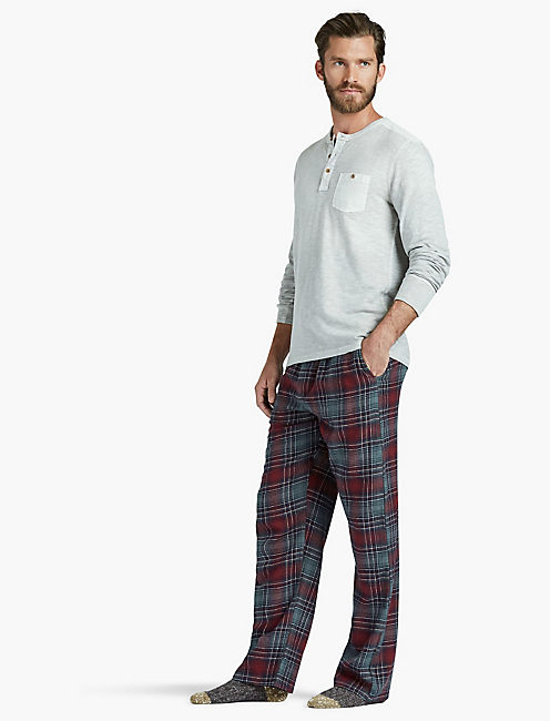 LUCKY TAWNY PORT PLAID PANT